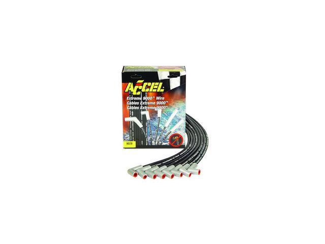 ACCEL Universal Fit Extreme 9000 8mm Ferro-Spiral Spark Plug Wire Set