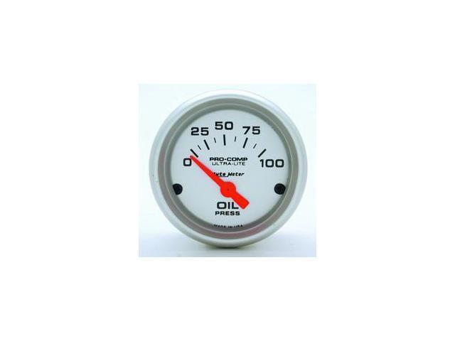 Auto Meter Ultra-Lite Electric Oil Pressure Gauge