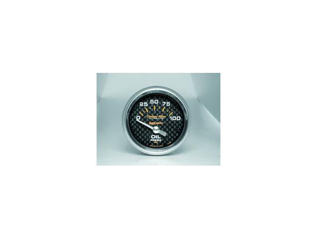 Auto Meter Carbon Fiber Electric Oil Pressure Gauge