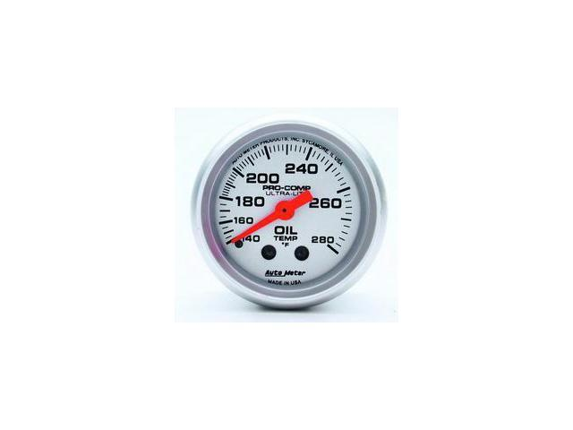 Auto Meter Ultra-Lite Mechanical Oil Temperature Gauge