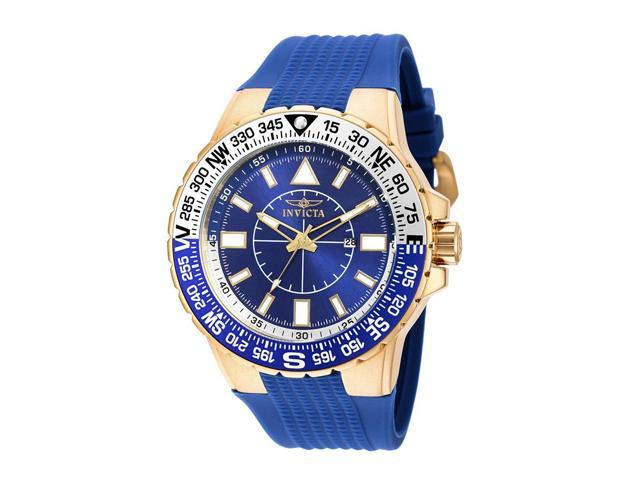 Invicta 19270Syb Men's Aviator Blue Silicone And Dial Watch