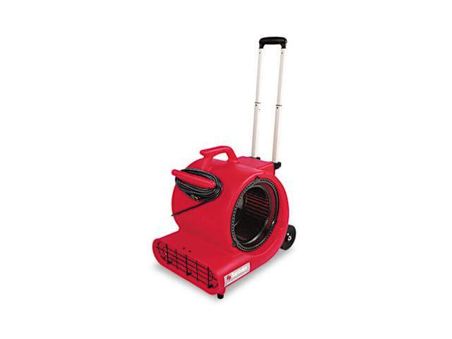 Sanitaire SC6052A Commercial Three-Speed Air Mover with Built-on Dolly Red