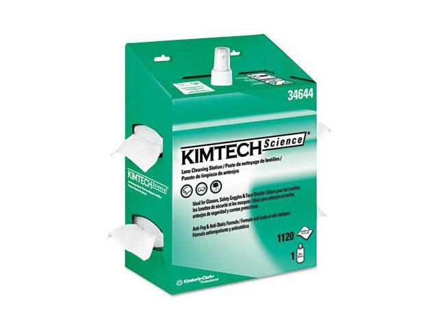 Kimberly-Clark 34644 Kimtech Science Kimwipes Lens Cleaning Station  4.5 x 8.5  Pop-Up  White  4/PK