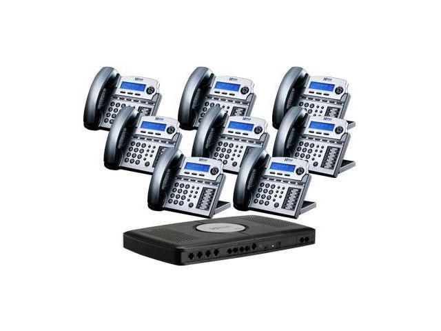 XBlue Networks XB-2022-28-TM 6-line Operation X16 Small Office Digital Phone System Bundle with 8 Phones