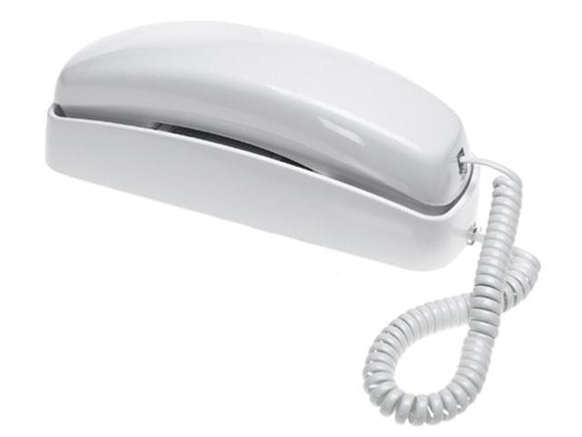 AT&T 210 white Corded Phone, White, 1 Handset