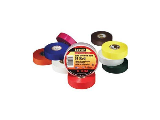 """3M 10828 Scotch 35 Vinyl Electrical Color Coding Tape, 3/4"""" x 66ft, White, 1 Pack"""