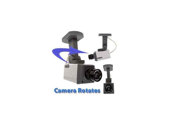 Rotating Imitation Security Camera with LED Light