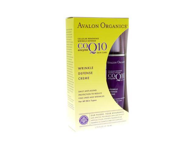 Wrinkle Therapy with CoQ10 Wrinkle Day Creme - Avalon Organics - 1.75 oz - Cream