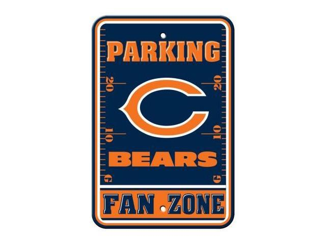 Fremont Die  92201 Plastic Parking Sign- Chicago Bears
