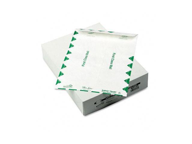 Quality Park R3130 White Leather Tyvek Mailer  First Class  9 x 12  White  100/box