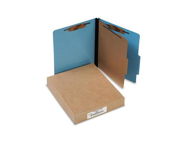 ACCO 15642 Presstex Colorlife Classification Folders- Letter- 4-Section- Light Blue- 10/Box