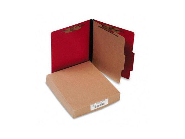 Acco 15649 Presstex Classification Folders  Letter  4-Section  Executive Red  10/box