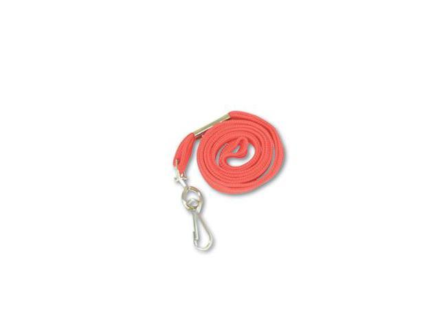 """Advantus 75425 Deluxe Lanyards- J-Hook Style- 36"""" Long- Red- 24/Box"""