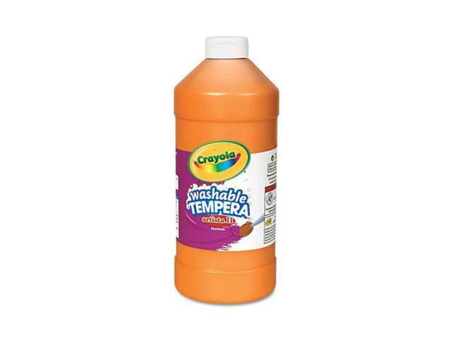 Crayola. 543132036 Artista II Washable Tempera Paint, Orange, 32 oz