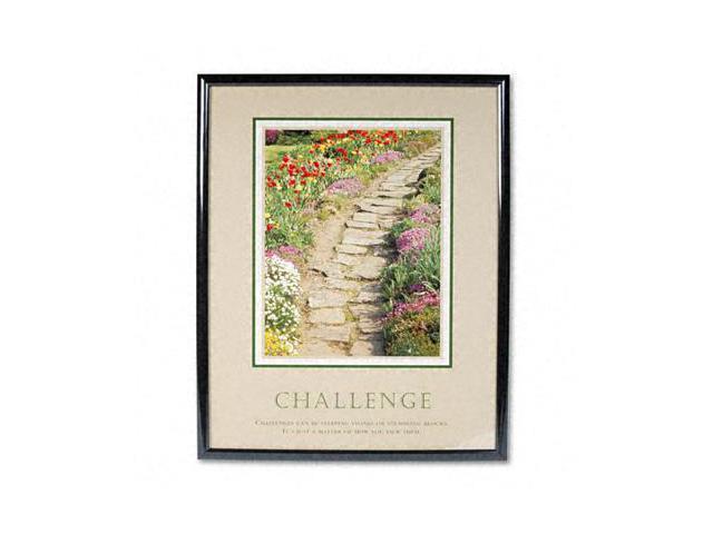 Advantus 78032 Challenge Framed Motivational Print  25-1/2w x 31-1/2h