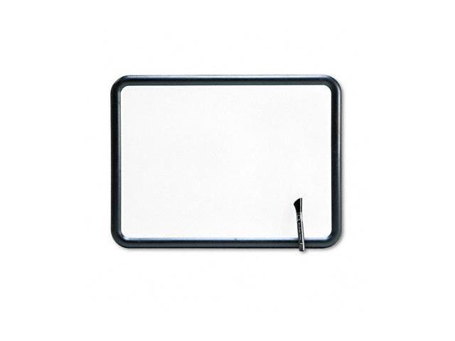 Quartet 7551 Contour Dry-Erase Board  Melamine  24 x 18  White  Gray Frame
