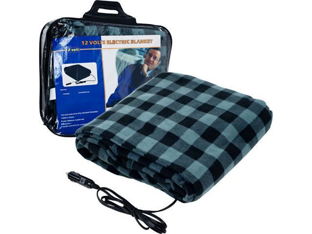 Trademark Poker TrademarkT Plaid Electric Blanket for Automobile - 12 volt