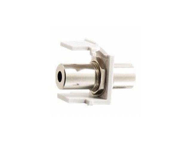 C2G SNAP-IN 3.5MM STEREO F-F KEYSTONE INSERT MODULE - WHITE