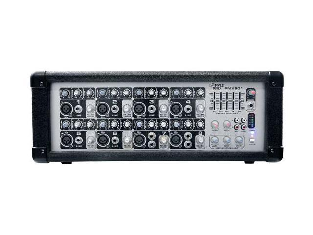Pyle PMX801 8-Channel Powered PA Mixer/Amplifier