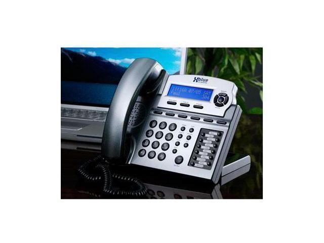 XBlue Networks XB2022-04-TM 6-line Operation Small Office Digital Phone System Bundle with 4 Phones