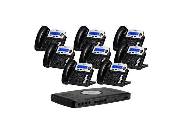 XBlue Networks XB-2022-28-CH 6-line Operation X16 Small Office Digital Phone System Bundle with 8 Phones