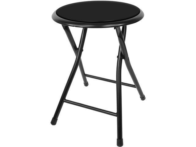18 Inch Cushioned Folding Stool - Trademark Home Collection