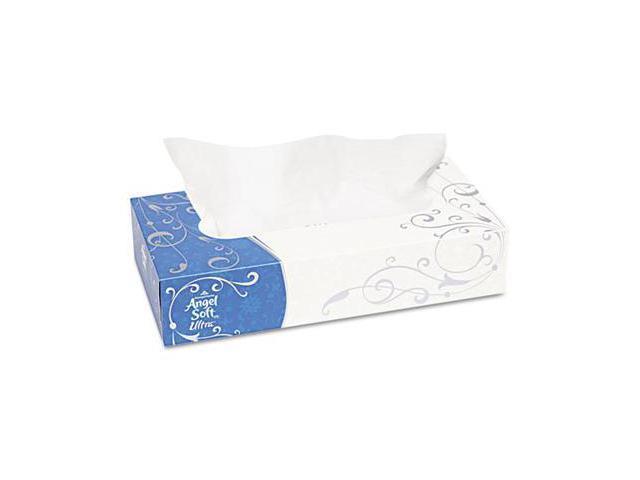 "Georgia Pacific 48560 Angel Soft ps Ultra Premium Facial Tissue, White, 7.4"" x 8.8"",125/Box, 30/Carton"
