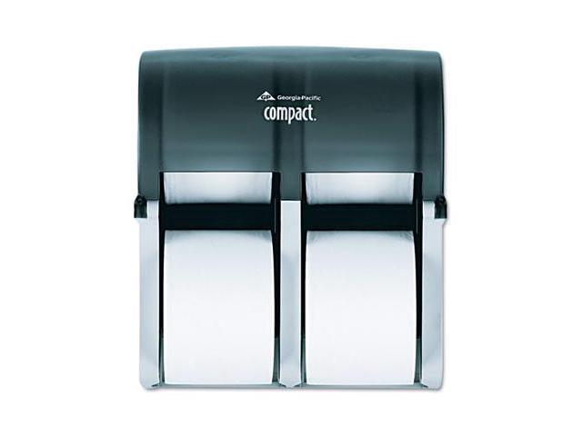 Georgia Pacific 56744 Compact Four Roll Coreless Tissue Dispenser, 11 3/4 x 6 9/10 x 13 1/4, Smoke