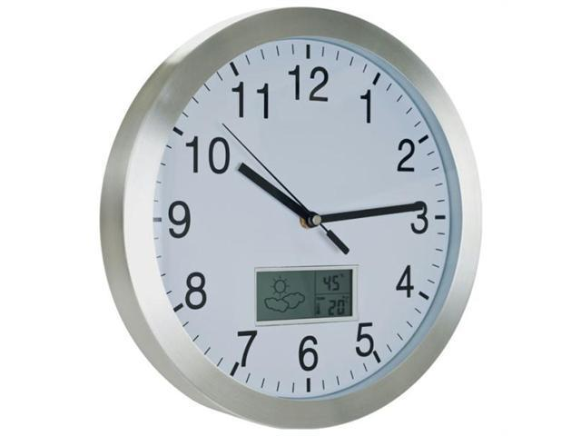 72-CW175 TG  Weather Forecast Wall Clock - 12 inch Aluminum