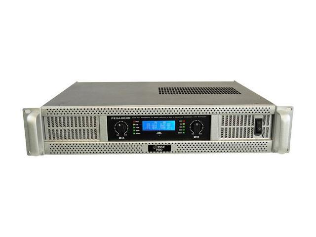 PYLE Audio - 19 RACK MOUNT 3000 WATT PROFE SSIONAL POWER AMPLIFIER W/ DIGITAL