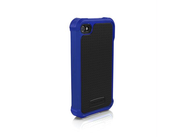 Ballistic Blue/Dark Blue Solid Soft Gel Case for iPhone 4/4S SA0582-M035