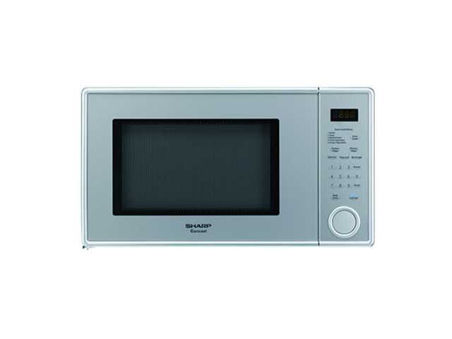 Sharp R-309YV 1.1 Cu Ft. 1000W Touch Microwave with 11.25 in. Turntable - Pearl Silver