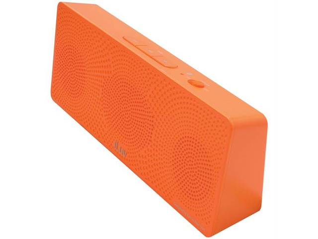 ILUV ISP202ORGN MobiTour Portable Bluetooth(R) Stereo Speaker (Orange)