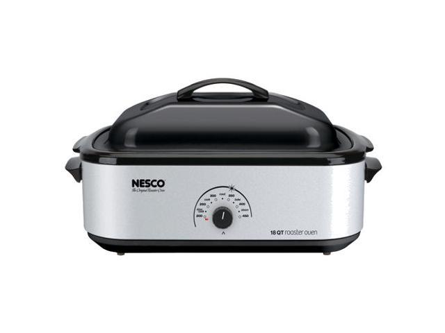 Nesco American Harvest 4818-47 18 Qt. Silver - Porcelain Cookwell - Silver