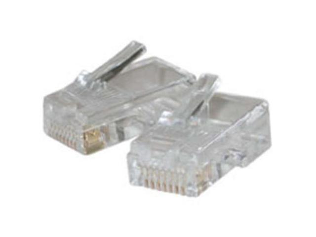 C2G 01931 Rj45 Cat5 8X8 Modular Plug For Flat Stranded Cable 10Pk
