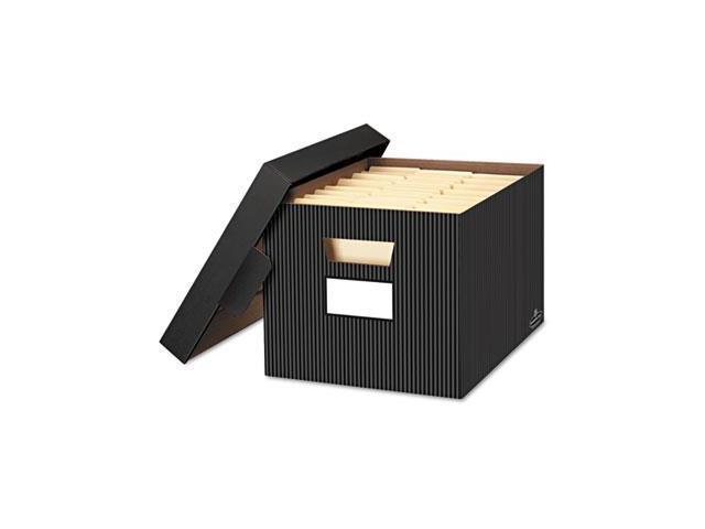 Fellowes 0029803 Stor-File Decorative Storage Box, Letter-Legal, Black-Gray, 4-Carton