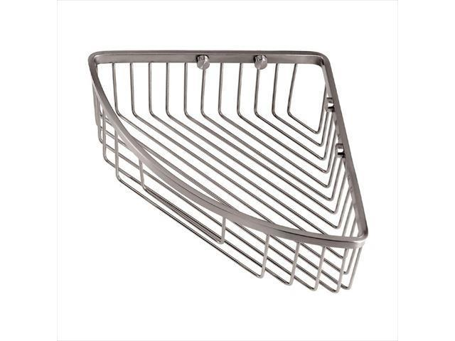 Gatco 1571 Wall-Mount Brass Corner Basket in Satin Nickel