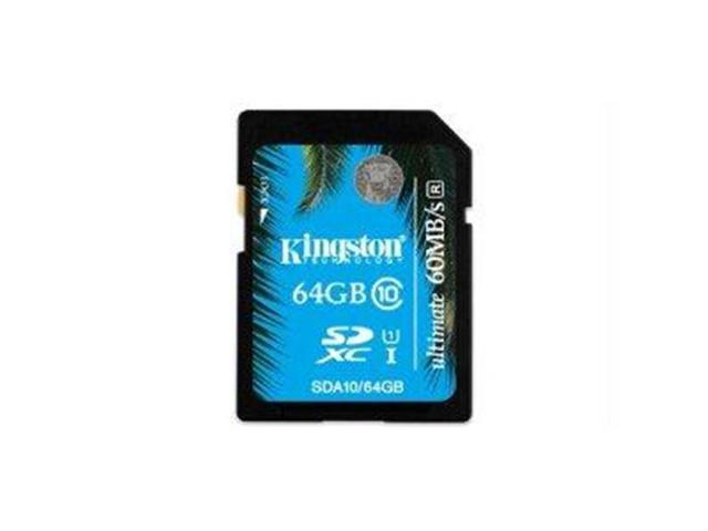 Kingston 64GB Secure Digital Extended Capacity (SDXC) Flash Card Model SDA10/64GB