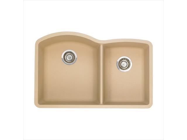 Blanco 441222 Diamond 1.5 in. Double Bowl Silgranit II Undermount Sink ...