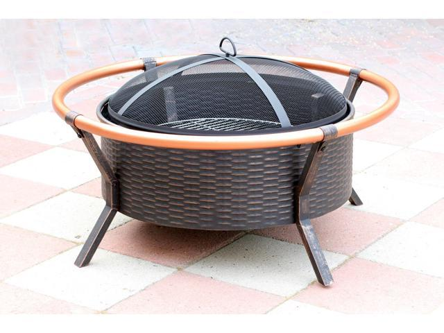 Jeco FP008 34 In. Copper Brush Fire Pit