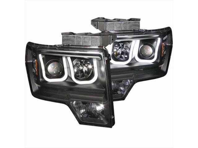 ANZO 111263 Projector Headlights Black U Bar Style