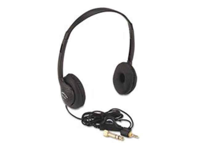 Amplivox Portable Sound Sys. SL1006 Personal Multimedia Stereo Headphones with Volume Control, Black