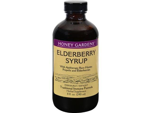 Honey Gardens Apiaries HG0626135 8 fl oz Organic Honey Elderberry Extract with Propolis