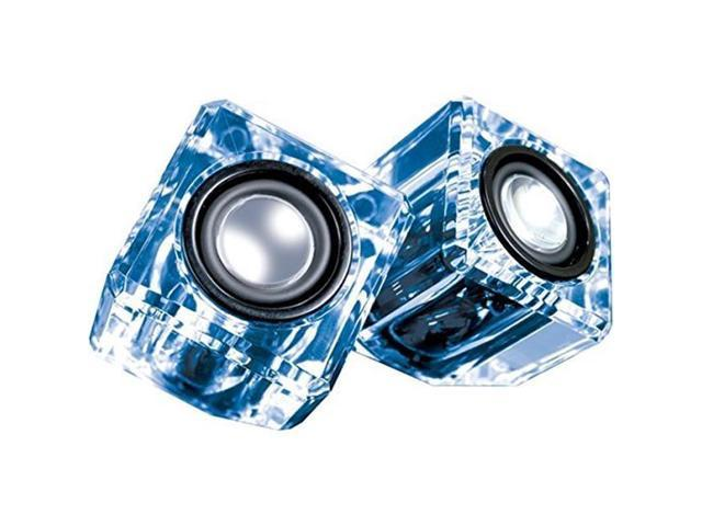 DREAMGEAR DGUN 6827 Ice Crystal Clear Compact Speakers (Blue)