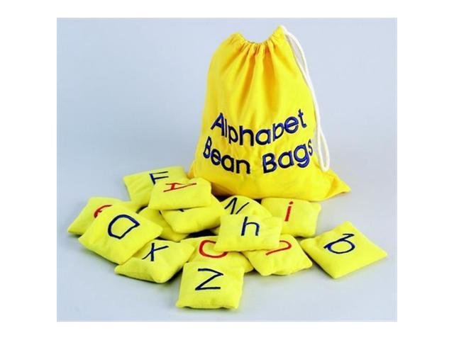 Educational Insights 080415 Washable Alphabet Beanbags, Set Of 26, Yellow