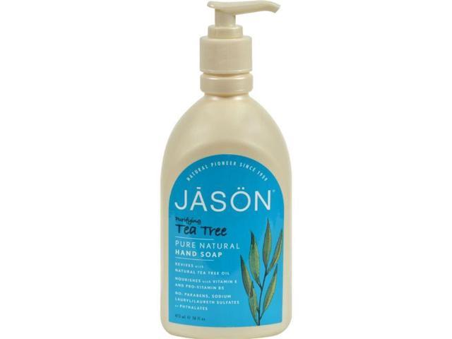 Jason Natural Products HG0275867 16 fl oz Pure Natural Purifying Tea Tree Hand Soap
