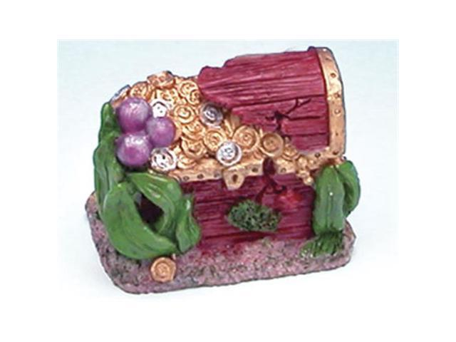 Penn plax rr859 aquarium mini treasure chest box for Fish tank treasure chest