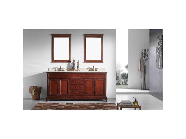 eviva elite stamford 60 inch brown solid wood bathroom vanity set