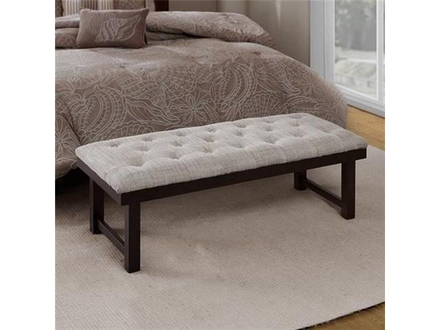 Madison Park FPF18-0257 Camden Button Tufted Wood Bench