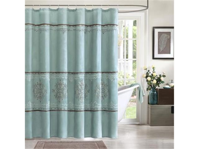 Madison Park MP70-1067 Brussel Shower Curtain, Blue - 72 x 72 in.